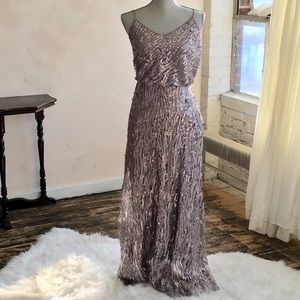 Donna Morgan Purple Sequined Gown